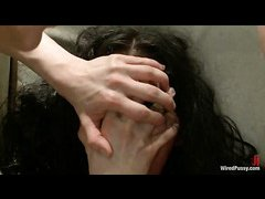 Jade Indica is double penetrated and tormented by lezdom beauties