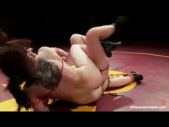 Six gorgeous girls get on the wrestling mat for a sexy bout