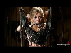 Chastity Lynn is tied, gagged, licked, whipping during lezdom session
