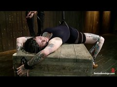 Tattooed hottie Kathryn Dupri is dominated and punished while tied