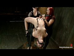 Cute slut Chastity Lynn begs for mercy during a hard bondage session