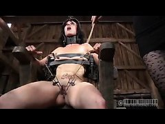 Three Doms treat this pretty sub to a painful and humiliating BDSM session