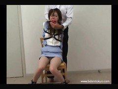 Japanese nose hook bondage and humiliation of asian amateur teen
