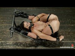 Wenona endures harsh bondage, caning and the mighty sybian