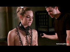 Nasty babe Bailey Blue is happy to go through slave training