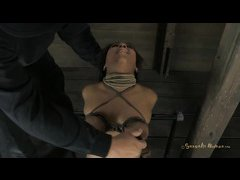 A tattooed slut is hogtied and fucked hard by her Master