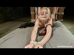 Amateur hottie Allie James is tied up and dominated by James Deen