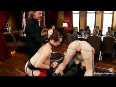 Slaves Bella Rossi and Penny Pax show what their mouths can do