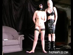 Bizarre lesbian domination of my fair subbie being whipped at http://www.thepainfiles.com