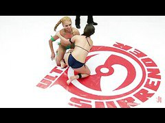 Featherweights Serena Blair and Luna Light take it to the mat