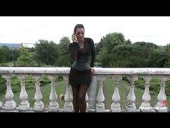 Femdom queen Sandra Romain punishes bad boy Martin Love