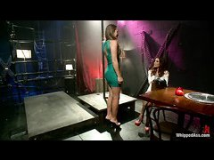 Gia Dimarco tests and punishes naughty stripper Dani Daniels