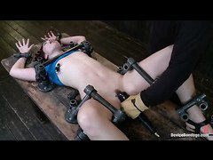 Jodi Taylor's sweet, shaved cunt is punished until she cries