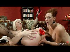 Cherry Torn and Audrey Hollander showing their asses stretched to the limits