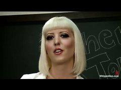Cherry Torn plays a teacher domme and punishes a cute teenage pupil