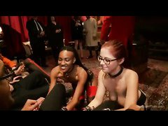 Hardcore BDSM party featuring astonishing submissive girls that love to be dominated all over
