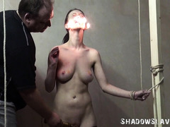Cruel burning and electro bdsm of tortured slaveslut