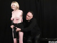 New slavegirl Weekays breast bondage and spankng