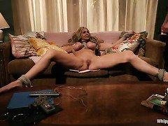 The sensual and raucous chastisement of a stunning blonde sweetheart