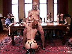 Slave beauties are commanded to satisfy the lusty needs of their horny patrons
