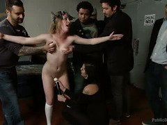 Public sex punishment for a holy babe, who is trying to spread the good news