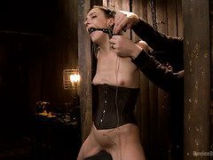 Defiant beauty endures master's sensually wild  and tough bdsm punishment