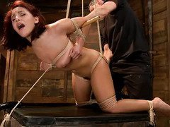 Ticklish delight for cute redhead while experiencing hardcore bdsm punishment
