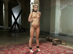 Pretty slave needs to complete her grueling exercises in order to pass her training