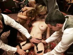 Beautiful slave is served as dessert for the lusty enjoyment of her patrons