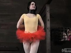 Defiant ballerina babe wants master to punish her until she cries
