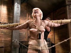 Master bestows pain pleasure punishment for alluring blonde sweetheart