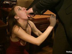 Constant punishment for charming slave beauties who are serving the house