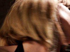 Stunning blonde mistress convinces babe to receive hardcore lesbian punishment