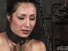 Lovely babe receives lusty beatings from other slaves for her naughty sins