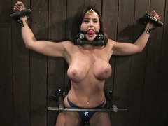 Electrifying and orgasmic humiliation for breathtakingly beautiful Wonder Women