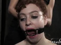 Master and mistress teams up to give pretty slave a severe punishment