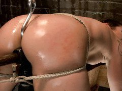 Tough beauty receives such lusty humiliation until she could not stop her orgasms