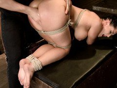 Captivating slave has a hungry pussy that needs to experience lusty punishment