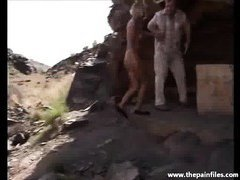 Husband takes his wife into the desert for a BDSM session