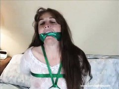MiLF is tied up with ropes and gagged