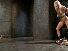 Blonde slave needs to learn how to submit totally to master's hardcore  training