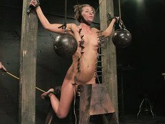 Squirt drinking punishment for stunningly beautiful slaves