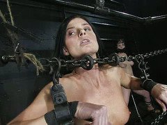 Intense mind-blowing orgasms punishment for two bounded slave sweethearts