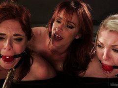 Two alluring beauties need to service the hungry wants of a strict FBI mistress
