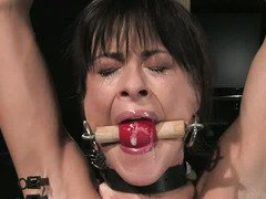 Crying darling receives a deplorable punishment from a demanding master