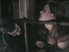 Beauty is begging master profusely to allow her to cum from his racy tormenting