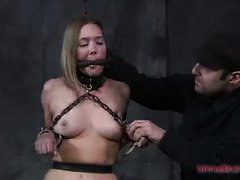 Elegant beauty needs immediate treatment for not being a kinky slut