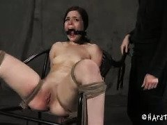 Sinfully sexy slave wants master to fuck her more during her tumultuous punishment