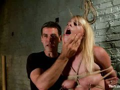 Captivating blonde gets a lusty assessment from master in becoming a vessel slut
