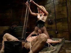 Bitch man slave needs to receive painful torments for mistress glorious pussy